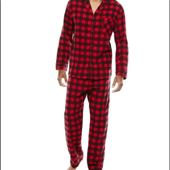 Hanes Other - NWT - Men's Buffalo Plaid Pajama Set
